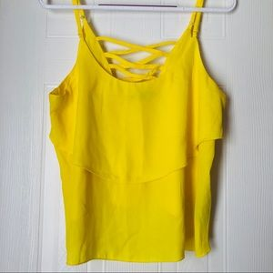 Canary yellow top